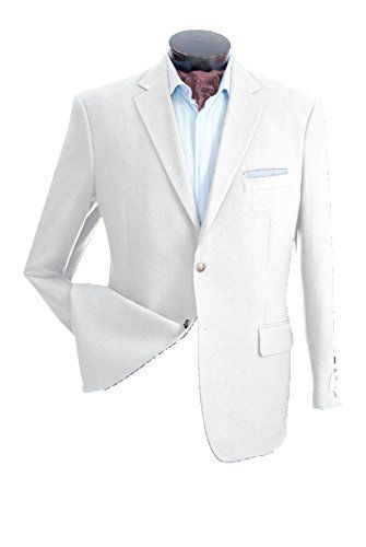 Mens Blazer Two Buttons (White) (42R) Men's Fashion *** You can get additional details at the image link.