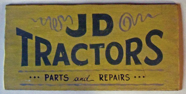JD Tractor Sales Repairs (John Deere?) - Possum County Folk Art Gallery