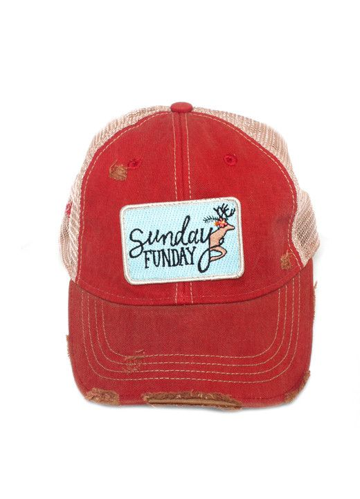 Judith March Sunday Funday Hat (Red)