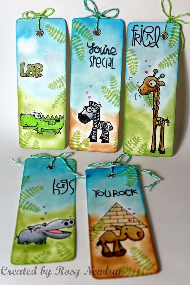 Zoo Crew Bookmarks Paper Smooches