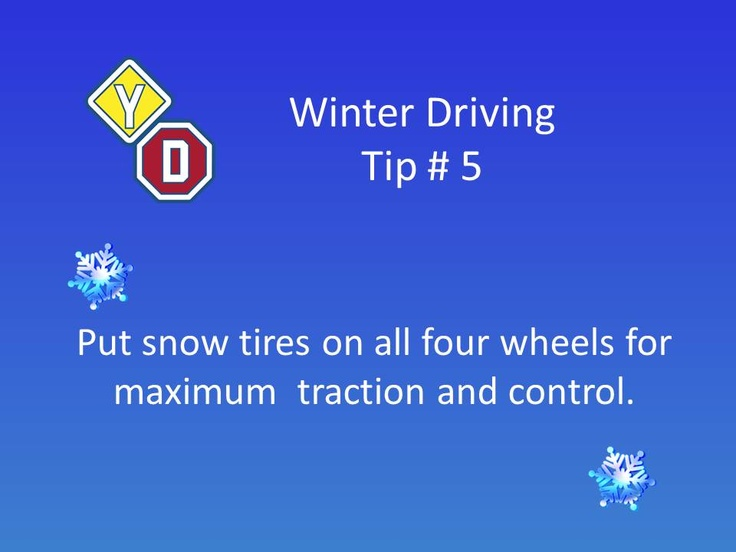 Driving lessons and more #winter tips from #driving school Young Drivers of Canada https://www.yd.com/Winter-Driving-Tips.aspx