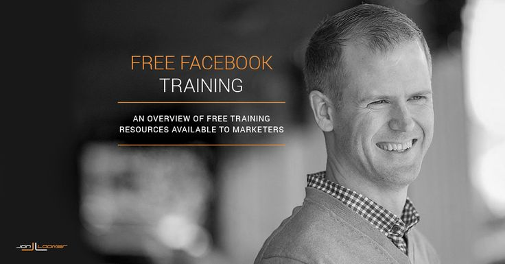 Free Facebook Training series for marketers.
