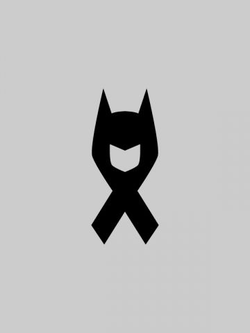 A bat-ribbon, presumably in honor of the victims of the 7/20/12 Aurora, Colorado shooting. that's amazing