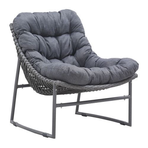 Zuo Modern Ingonish Beach Chair Ingonish Outdoor Beach Chair, Silver aluminum, Patio Furniture