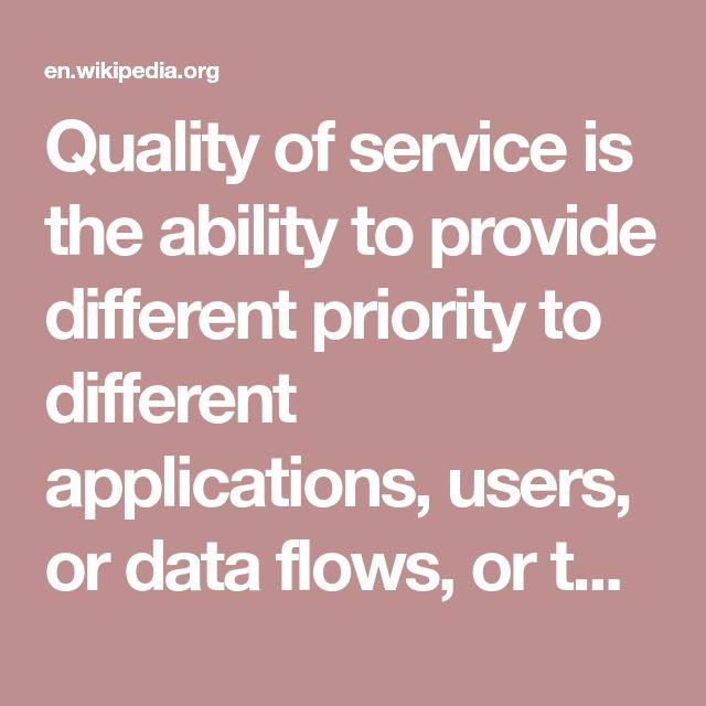 Quality of service is the ability to provide different priority to different applications, users, or data flows, or to guarantee a certain level of performance to a data flow.