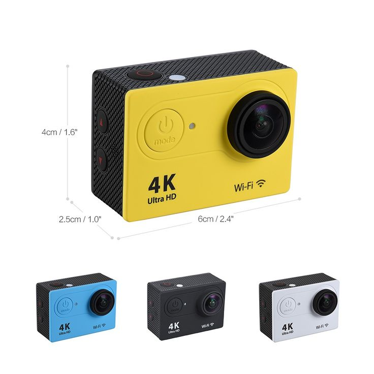 Only US$52.25, black 4K 25fps 1080P 60fps Full HD 12MP WiFi Sports Action Camera w/ - Tomtop.com