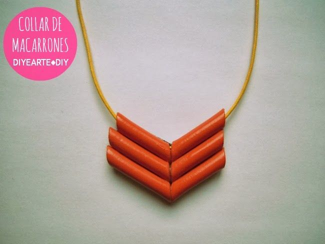 COLLAR DE MACARRONES | MACARONI NECKLACE DIY                                                                                                                                                                                 Más