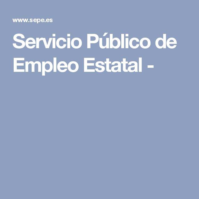 Servicio Público de Empleo Estatal -