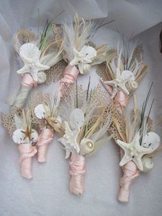 diy shell boutonniere - Google Search