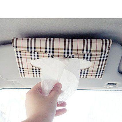 HuaYang Pare soleil de voiture auto accessoires support de boîte à mouchoirs…
