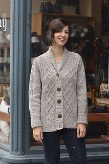 Cozy cables in a classic knit: Rustique by Glenna C.