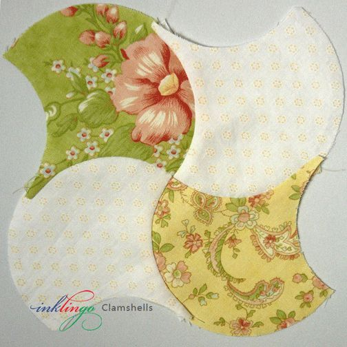 If you have only seen Clamshells sewn in rows, you'll be happy as a clam when you see these settings! Clamshells tessellate, so the design variations are endless!