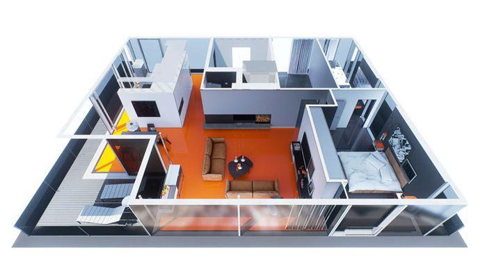 Mit Virtual Reality können Wohnungen, Häuser und andere Gebäude virtuell besichtigt werden. raumdichter erstellt solche Echtzeit-Architekturvisualisierungen.