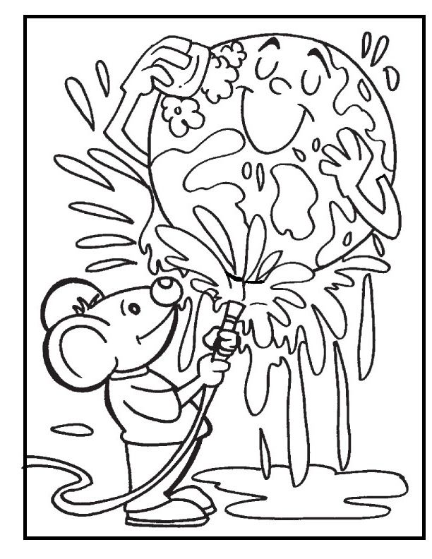 earth cleaning the dirty coloring picture for kids - Dirty Coloring Books