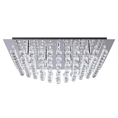Galaxy K9 Crystal Chrome Flush Ceiling Light - Ceiling lights - Lighting - Home & furniture -