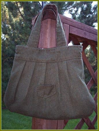 diy pleated bag: Idea, Brown Plaid, Pur Patterns, Bags Tutorials, Design Handbags, Diy Bags, Green Wool, Plaid Handbags, Handbags Patterns