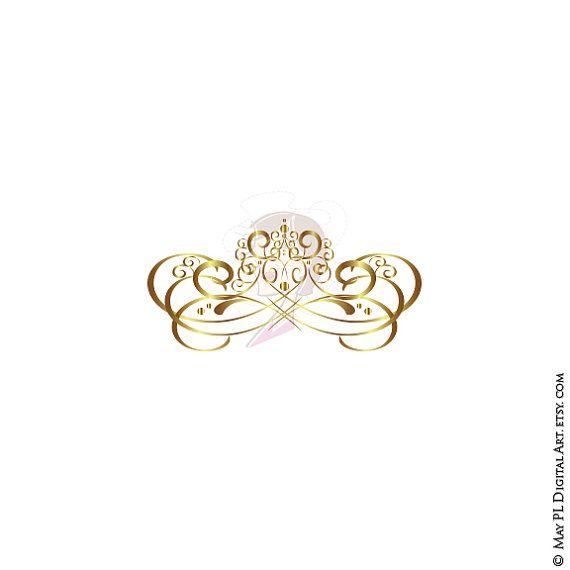 Gold Swirl Design Flourish Clipart Elements For Diy Business Etsy Swirl Design Wedding Logos Line Artwork