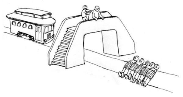 Classics ethics trolley problem -- how would a Buddhist answer the question?