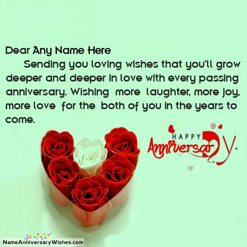 Best Wishes For Happy Marriage Anniversary With Name