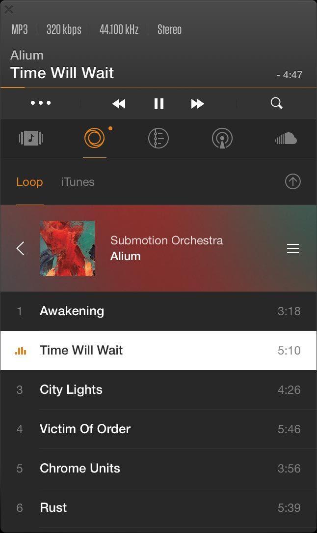 VOX pour Mac FLAC player lit les fichiers au formats FLAC, MP3, CUE, APE & M4A... (certains non gérés par iTunes), le HD Audio jusqu'à 24bit/192kHz (4 fois plus que la norme 44kHz), l'audio multicanal 5.1, la bibliothèque iTunes, SoundCloud, et des radios sur internet (plugin payant), scrobble sur Last.fm; permet de créer des playlists et lit les playlists iTunes, .CUE. Intégré à Mac OS X : diffusion AirPlay, notifications, boutons dans la barre système.  app iPhone, Service cloud LOOP…