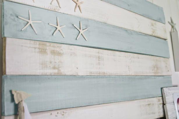 Coastal-Style, Distressed Wood Flag Tutorial | The Lettered Cottage
