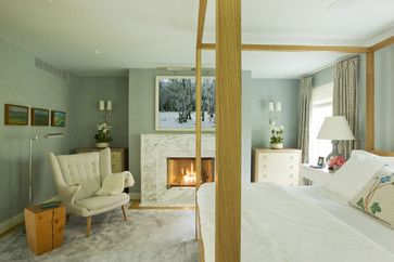 master bedroom - contemporary - bedroom - new york - Dufner Heighes Inc love the color