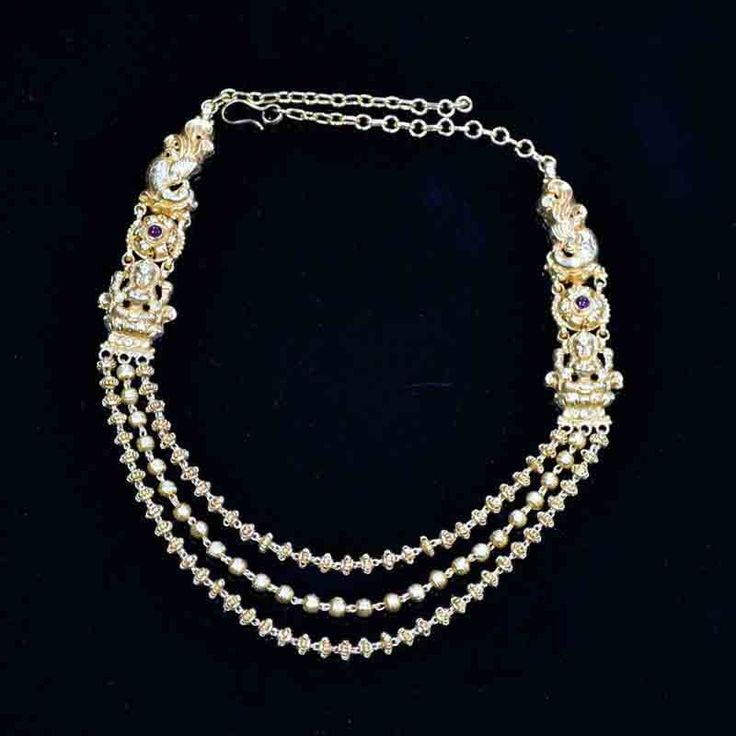 Three Layered Mani Mala Temple Necklace