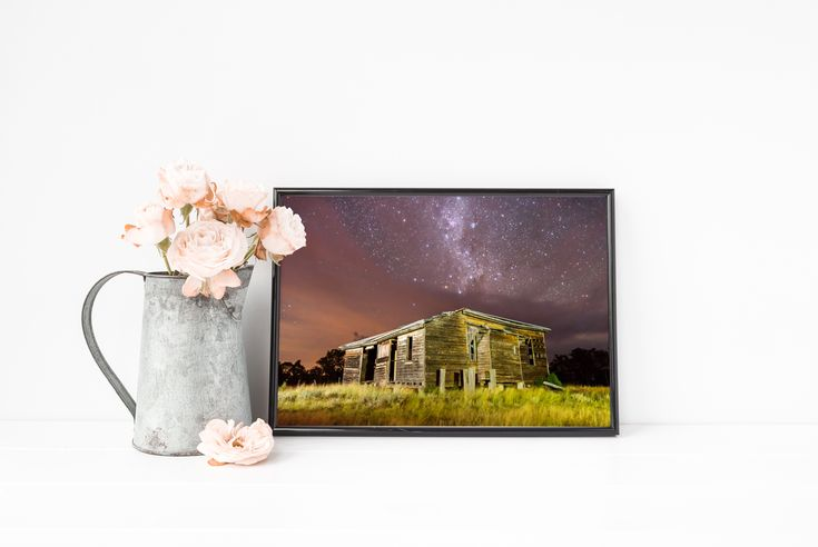 Visit my Esty store to see what other prints are available. Old Building Abandoned Building Farmhouse Stars Night Sky Milky Way Landscape Photography