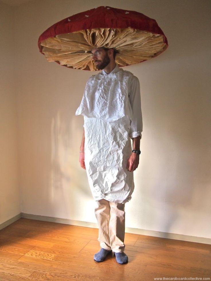 The Cardboard Collective: cardboard mushroom costume (Next year's Halloween costume!)