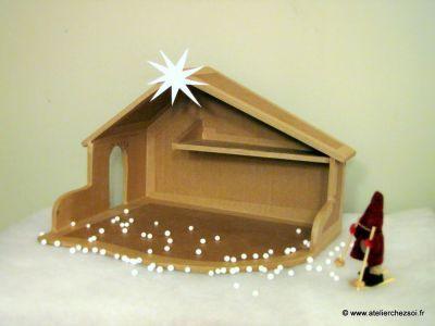 Tutoriel : Crêche de Noël en carton [Patron offert]