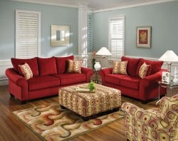 looking for red living room set