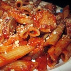 Johnsonville Italian Sausage Rigatoni  Allrecipes.com - this is a fast delicious dinner! #JvilleKitchens #AllstarsJville