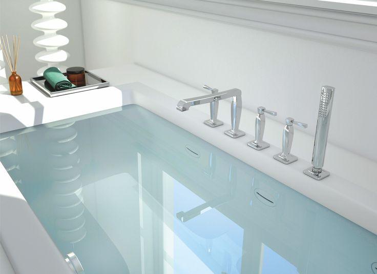 Deck Mounted bath tube mixer