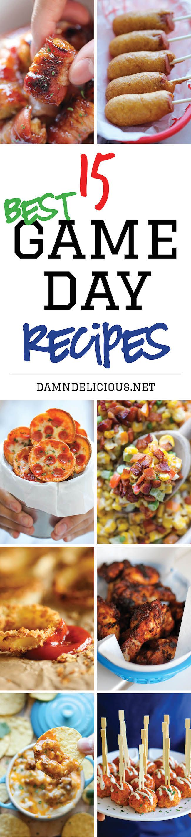 15 Best #GameDay Recipes - The best and easiest recipes for game day. Just be sure to double the recipes because everyone will be begging for seconds! #tailgate
