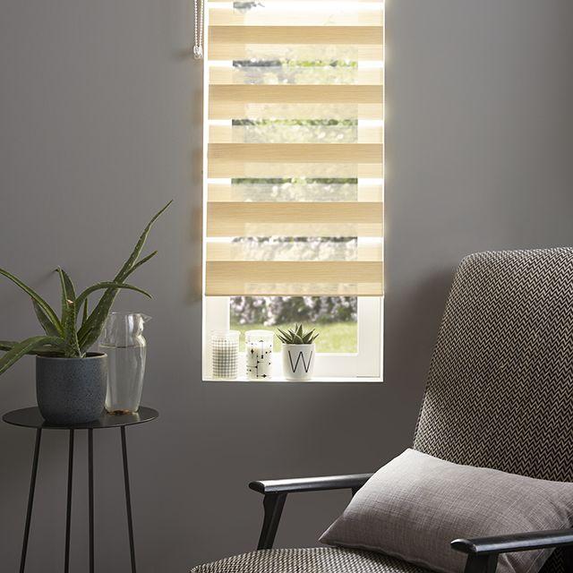 Store mini enr. jour/nuit Elin structuré beige 42 x 160 cm - CASTORAMA