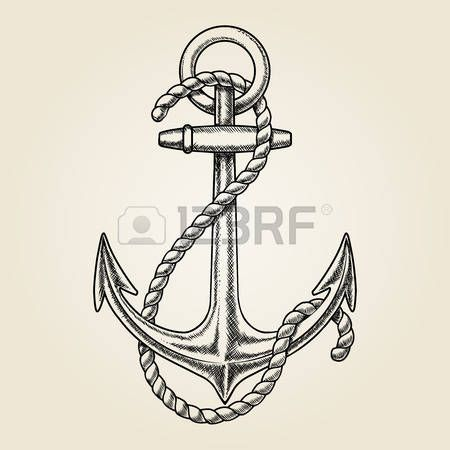 voilier dessin: Vecteur dessiné à la main ancrage nautique