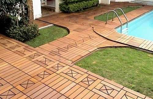 patio tiles outdoor | Wood decking tile designs with attractive decoration pattern made with ...