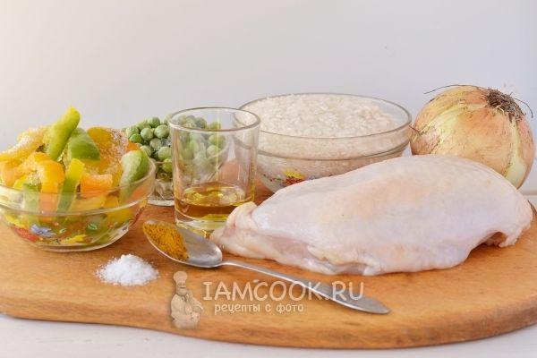 Ингредиенты для паэльи с курицей