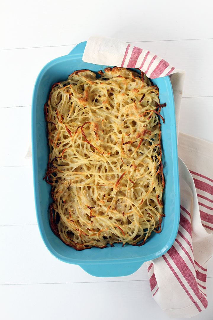 Spiralized Potato Noodle Kugel USE MY OWN MODIFIED RECIPE,  BUT USE SPIRALIZED POTATOES I STEAD OF GF PASTA!