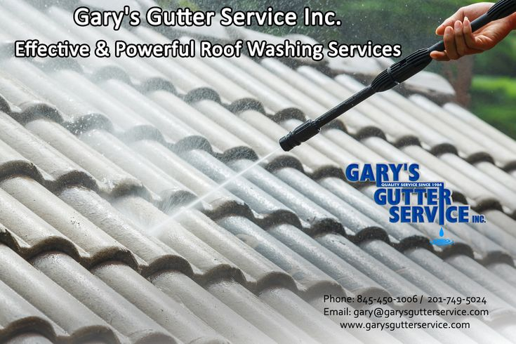 Gary's Gutter Service Inc. Effective & Powerful Roof Washing Services