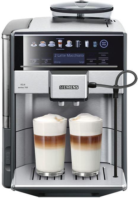 Siemens EQ6 TE607203RW  Siemens EQ.6 TE607203RW: Diverse koffiespecialiteiten met één druk op de knop! Maak kennis met de Siemens EQ.6 TE607203RW waarmee jij met één druk op de knop de heerlijkste koffiespecialiteiten kan zetten. Je hebt een minimale opwarmtijd waardoor je heel snel geniet van het eerste kopje! Naast espresso en café crème zet jij ook heerlijke melkspecialiteitendankzij het creamCenter. De EQ6 werkt met koffiebonen maar heeft ook een aparte vulschacht voor gemalen koffie…