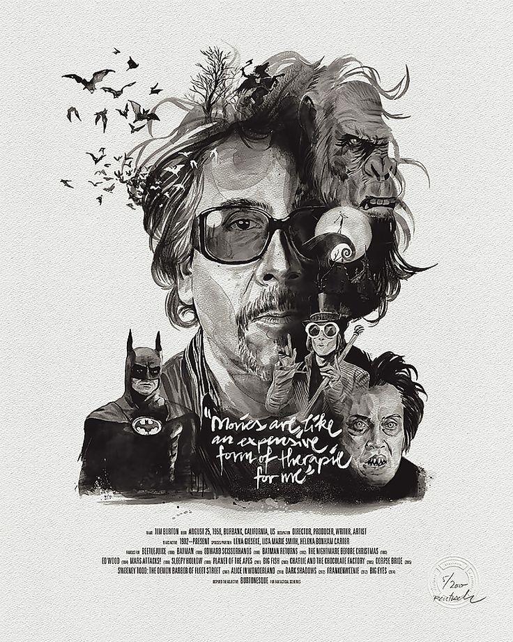 Affiche Portrait Tim Burton - Stellavie - Visuel 1