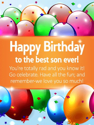 78 best birthday cards for son images by birthday greeting cards to the best son ever happy birthday wishes card for son time for fun m4hsunfo