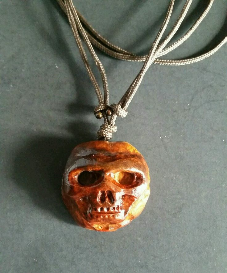 HAND CARVED SKULL PENDANT WITH CHOKER CORD AVOCADO SEED PIT FOLK ART NECKLACE | Jewelry & Watches, Handcrafted, Artisan Jewelry, Necklaces & Pendants | eBay!