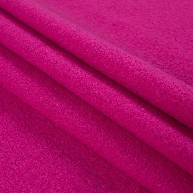 Fuchsia Rose Stretch Boiled Wool Fabric by the Yard | Mood Fabrics