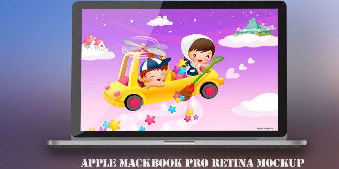 Free MacBook Pro Retina Mockup | Graphic Design Inspiration