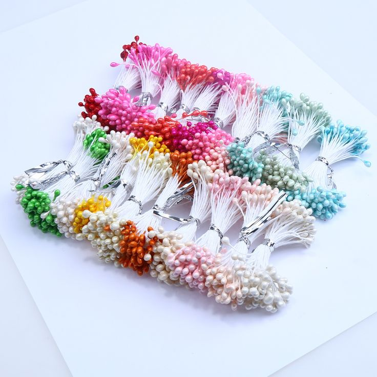 500PCS 3mm Artificial Pearl Flower Stamen Used For Nylon Flower Accessories  Price: 1.21 USD