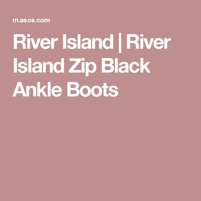 River Island | River Island Zip Black Ankle Boots