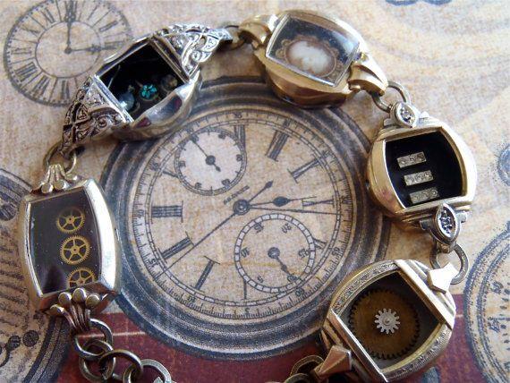 Steampunk Bracelet In the Works Steampunk watch di steampunkjunq