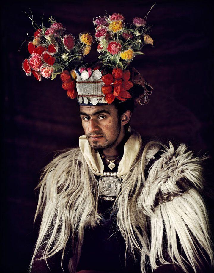 Homme Ladakhi, Inde.